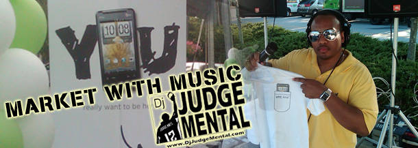 Dj Judge  Mental working with Pinnacle Marketing Group promoting the new HTC Aria  phone